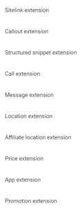 PPC Ad Extensions